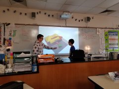 6th graders modeling Ocean Currents
