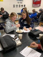 Mrs. Bryan's 8th Graders simulating natural selection