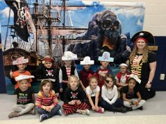 Mrs. Rieger's Class dressed up like Pirates for Halloween